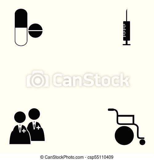 jogo, saúde, ícone - csp55110409