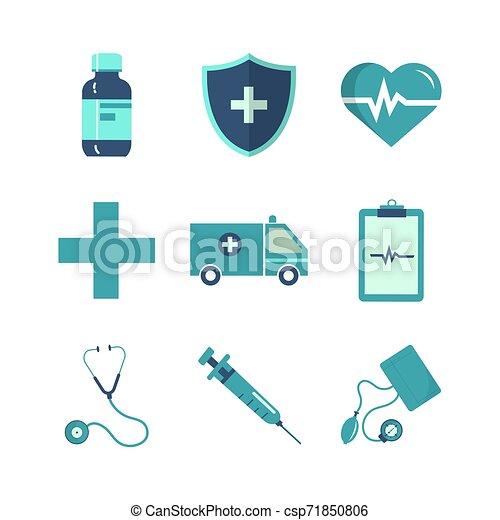 jogo, saúde, ícone - csp71850806