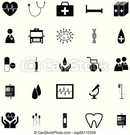 jogo, saúde, ícone - csp55110359