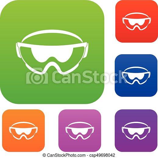 jogo, segurança, cobrança, óculos - csp49698042