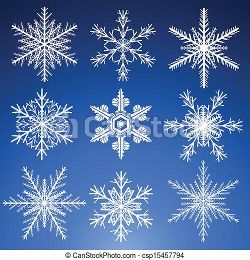 jogo, snowflakes - csp15457794