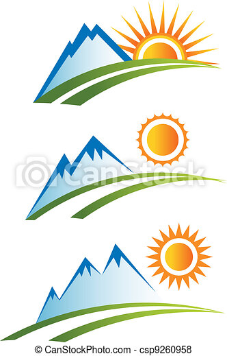 jogo sol, montanha - csp9260958