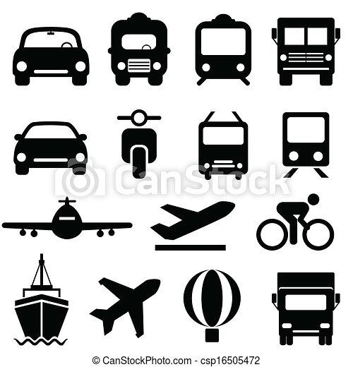 jogo, transporte, ícone - csp16505472
