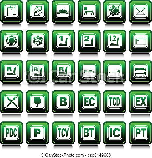 jogo trem, ícones - csp5149668