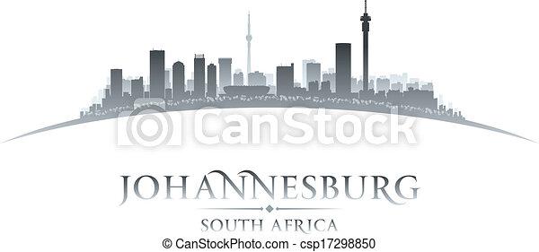 Johannesburg South Africa city skyline silhouette. Vector illustration - csp17298850