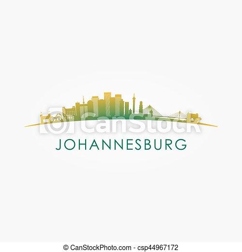 Johannesburg, South Africa skyline silhouette. - csp44967172