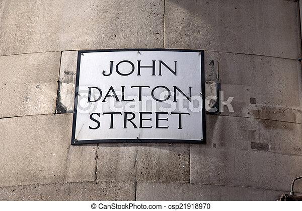 John Dalton Street Sign; Manchester - csp21918970