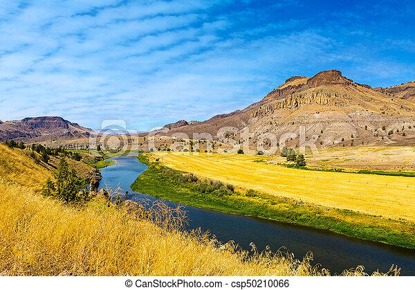 John Day River Panoramic View - csp50210066
