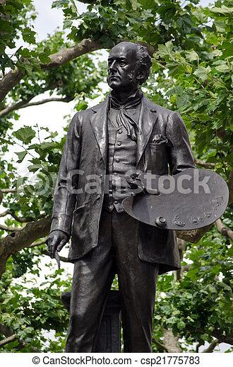 John Everett Millais statue, London - csp21775783