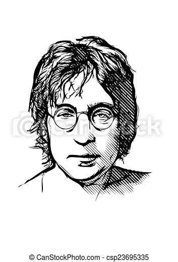 John Lennon Vector Illustration