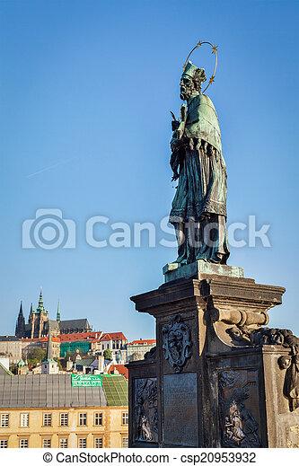 John of Nepomuk (or John Nepomucene) national saint of the Czech - csp20953932