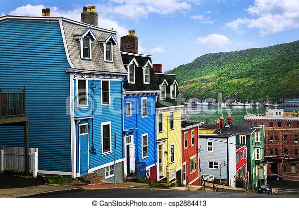 john\'s, casas, s., colorido - csp2884413