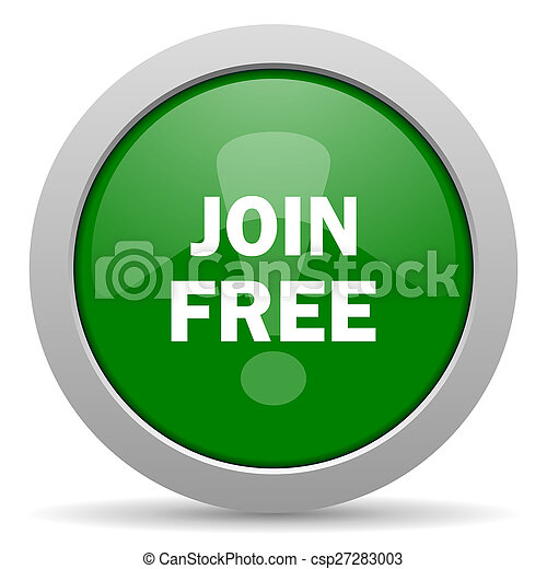 join free green glossy web icon - csp27283003