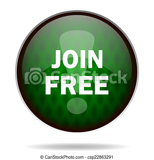 join free green internet icon - csp22863291