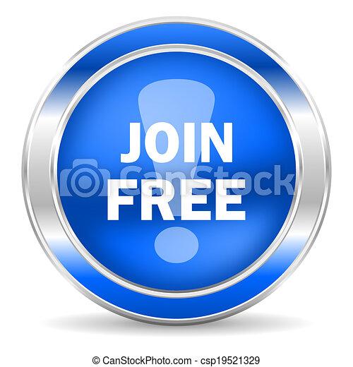 join free icon - csp19521329