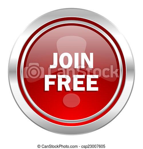 join free icon - csp23007605