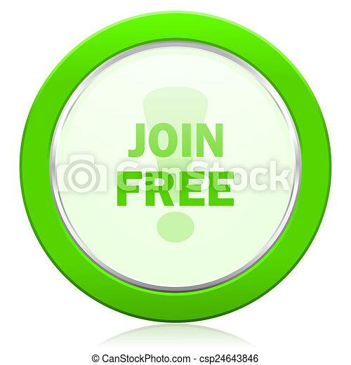 join free icon - csp24643846