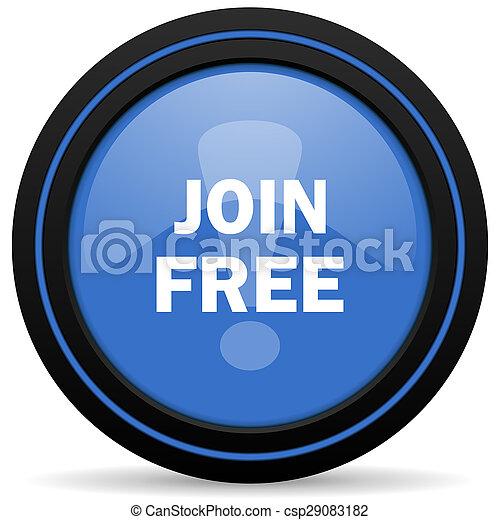 join free icon - csp29083182