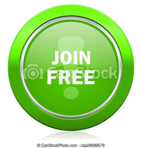 join free icon - csp24699579