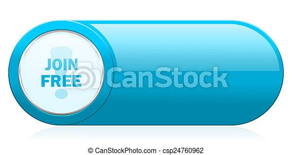 join free icon - csp24760962