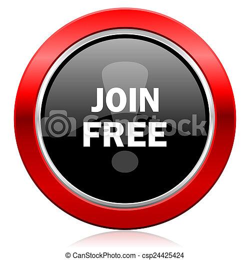 join free icon - csp24425424