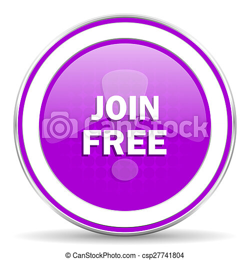join free violet icon - csp27741804