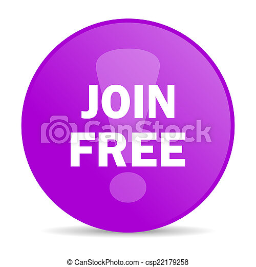 join free web icon - csp22179258