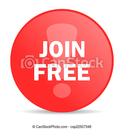 join free web icon - csp22507348