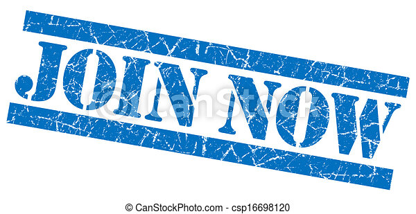 Join now grunge blue stamp - csp16698120