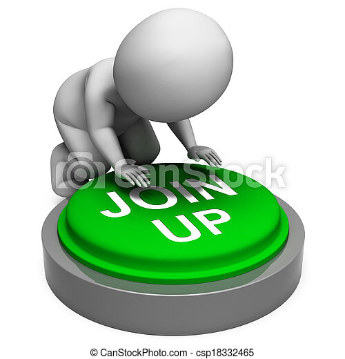Join Up Button Means Group Membership Or Subscription - csp18332465