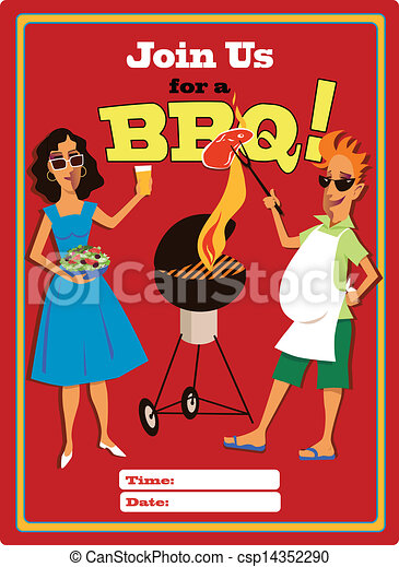 Join us for a BBQ - csp14352290