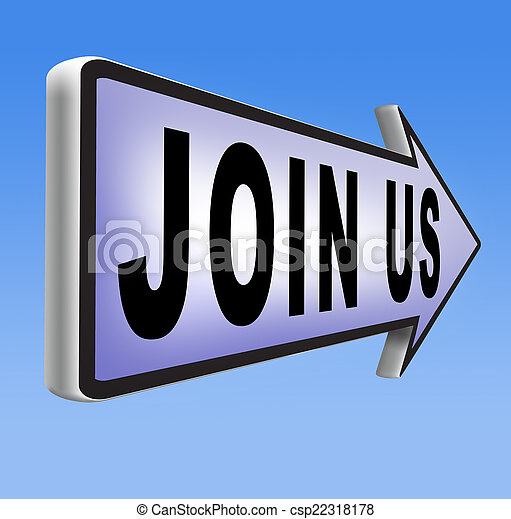 Join us sign - csp22318178