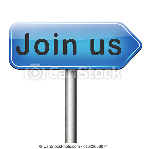 Join us sign - csp22858074