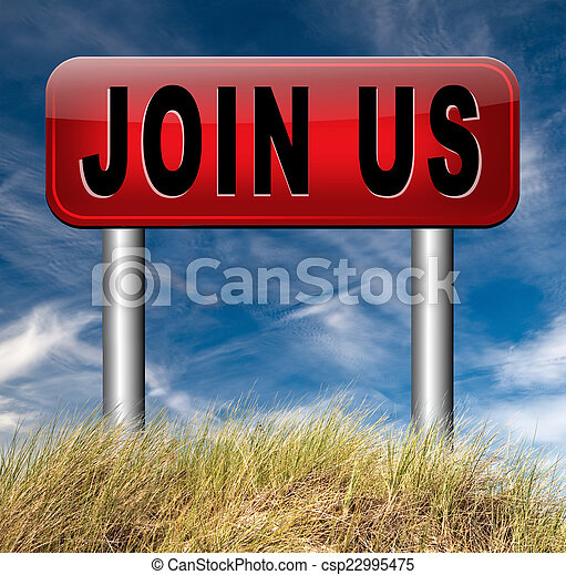 Join us sign - csp22995475