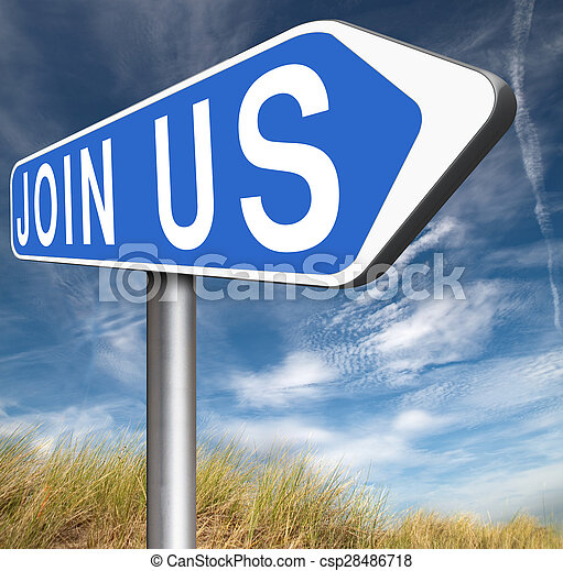 Join us sign - csp28486718