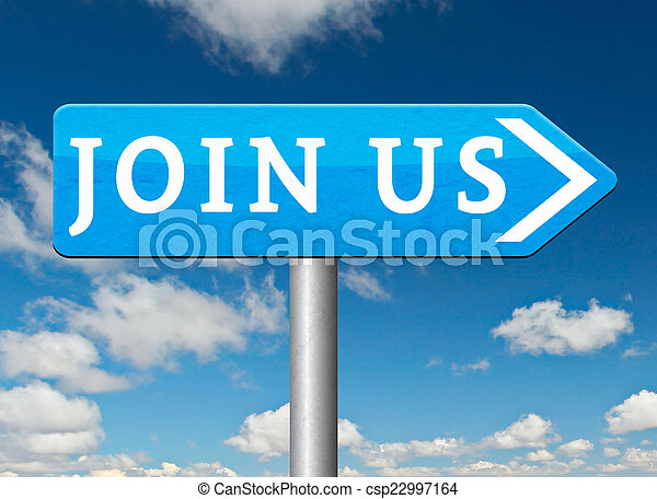 Join us sign - csp22997164
