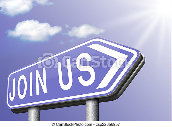 Join us sign - csp22856957