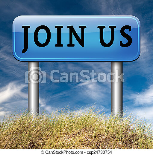 Join us sign - csp24730754