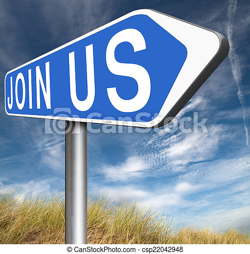 Join us sign - csp22042948