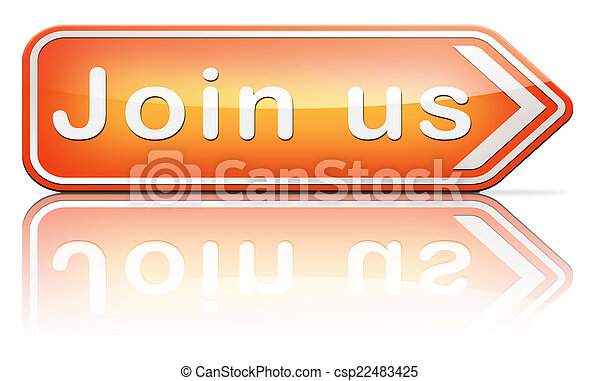 Join us sign - csp22483425