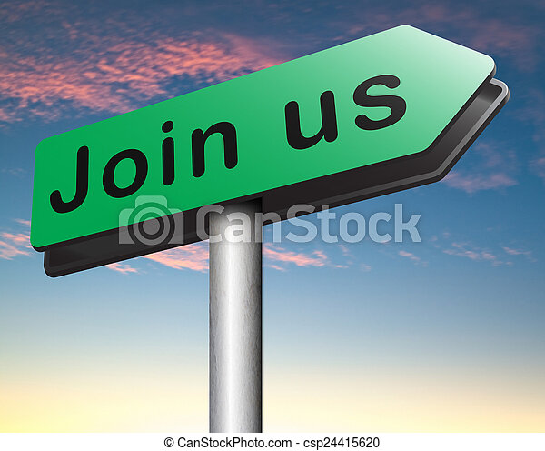 Join us sign - csp24415620