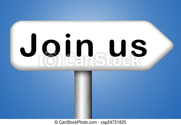 Join us sign - csp24731825