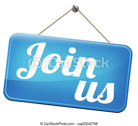 Join us sign - csp22042798