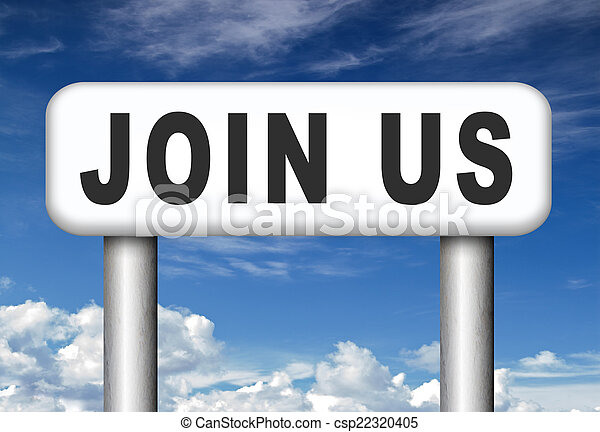 Join us sign - csp22320405
