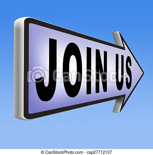 Join us sign - csp27712107