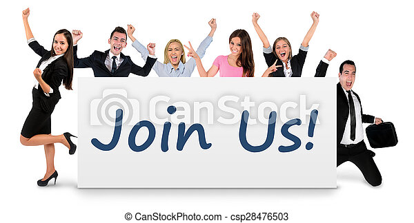 Join us word on banner - csp28476503