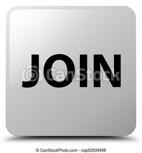 Join white square button - csp50509498