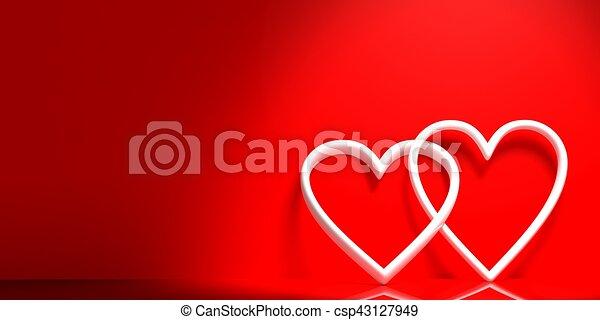 Joint Rendre Fond Cœurs Rouges 3d Joint Rendre Fond Cœurs