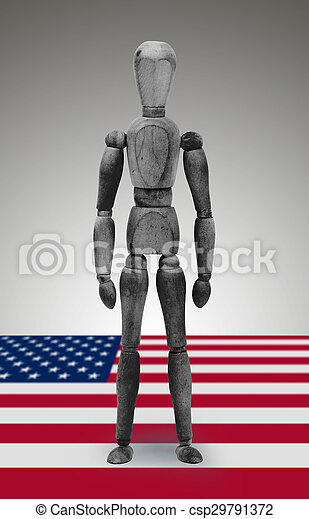 Jointed wooden mannequin isolated on white background - csp29791372