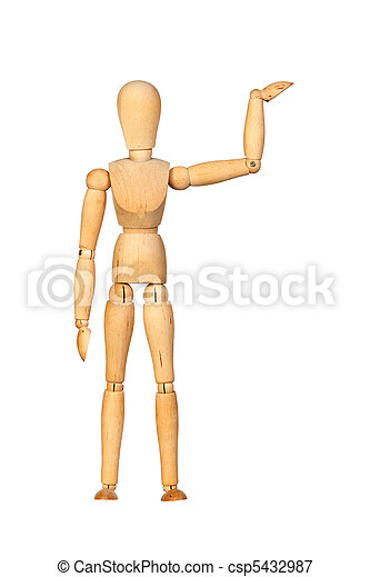 Jointed wooden mannequin - csp5432987